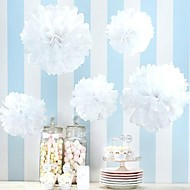 Wedding Décor 4 inch Paper Pom Tissue Flower - Set of 4 (More Colors)