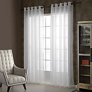 zwei Panele Window Treatment Rustikal / Modern , Solide Wohnzimmer Polyester Stoff Gardinen Shades Haus Dekoration For Fenster
