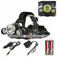 6000LM CREE XM-L XML 3T6 LED Rechargeable HeadLamp HeadLight  Tourch 2*18650 For Outdoor Sports