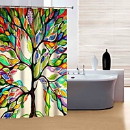 "Modern Colourful Tree Shower Curtains W71""×L71"""