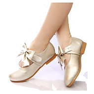 Girl's Spring / Fall Round Toe Leatherette Outdoor / Dress Flat Heel Bowknot Pink / Gold / Coral