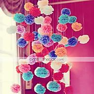 6pcs Mixed 3 Sizes(10cm,15cm,20cm)Tissue Paper Pom Poms Wedding Party Baby Shower Festival Decoration