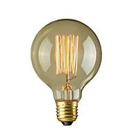 40w e26 / e27 retro industrie stil glob bec transparent incandescență