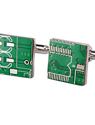 Jewelry Brass Material, Circuit Board Shape Cufflinks