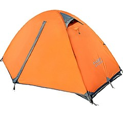 FlyTop® 1 person Tent Double One Room Camping Tent >3000mm OxfordMoistureproof/Moisture Permeability Waterproof Breathability Heat