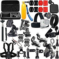 Accessory kit of Gopro,All in 1 Anti-Fog Insert Smooth Frame Protective Case Monopod Tripod Case/Bags Screw Buoy Suction Cup Adhesive Mounts Straps