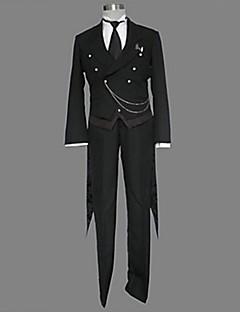 Inspired by Black Butler Sebastian Michaelis Anime Cosplay Costumes Cosplay Suits Solid Black Long Sleeve Tuxedo / Vest / Pants / Tie