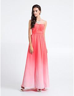 e62fd6f3d076 Lanting Νύφη Μακρύ Σιφόν Φόρεμα Παρανύμφων - Διαβάθμιση Χρώματος Ίσια Γραμμή  Στράπλες Μεγάλα Μεγέθη   Μικρά
