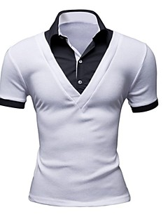Men's Short Sleeve Polo , Others Casual/Work Pure