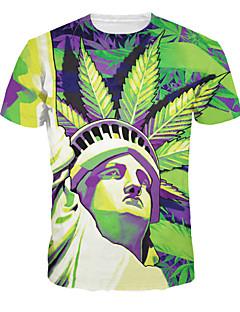 96cc266a7122 Ανδρικά Καθημερινό Πολυεστέρας Με Τύπωμα Κοντομάνικο T-shirt-Πολύχρωμο