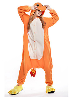 Kigurumi Pyjamas New Cosplay® / Drage Trikot/Heldraktskostymer Halloween Animal Nattøy Oransje Lapper Polar Fleece Kigurumi Unisex