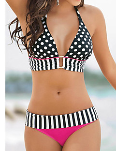 Europe Sexy Swimwear Cute Polka Dot Bikini Foreign Split Swimsuit Hanging Neck Straps Ms.