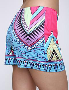 Women's Boho Casual/Print Print Multi-color Shorts Pants
