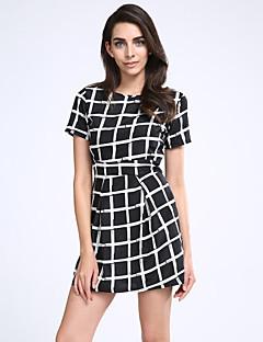 3cdd1e96f9c7 Γυναικεία Φόρεμα Τσέπη Στρογγυλή Λαιμόκοψη Πάνω από το Γόνατο Κοντομάνικο  Σιφόν/Νάιλον
