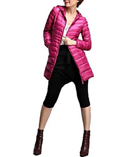 Women's Super Warm White Duck Down Jacket Mid Long Hooded Tops Fashion Korean Style Parka Winter Outerwear