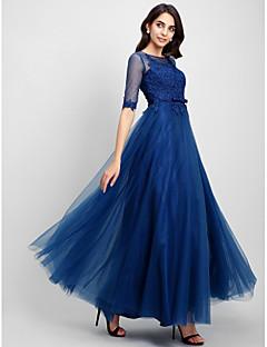62dc860036e0 Επίσημο Βραδινό Φόρεμα Γραμμή Α Σχήμα U Μακρύ Δαντέλα   Τούλι με Δαντέλα