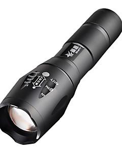 f7a3c7f0ac E17 CREE XM-L T6 2000 LM Υψηλής ισχύος με Ζουμ Φακός LED (1x18650