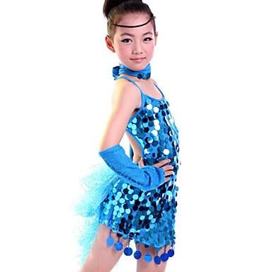 Λατινικοί Χοροί Επίδοση - Φορέματα - Παιδικά (Μαύρο Μπλε Φούξια ... 3f95aed1353