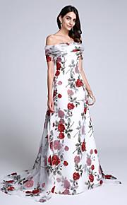 1687b5e5133 TS Couture® Formal Evening Dress Sheath   Column Off-the-shoulder Court  Train